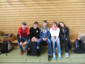 Geschafft! Dag, Nadine, Tobias, Kirstin und Senta